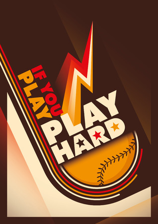 baseman: Modern design of baseball poster.