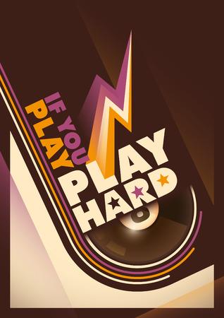 Modern design of billiards poster. Illustration