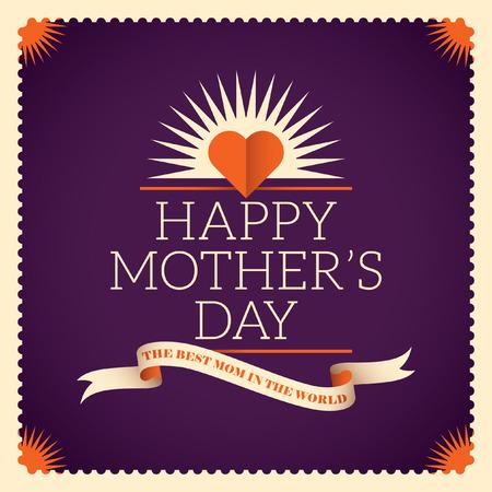 likeable: Vintage mothers day card. Illustration