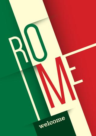 italian tradition: Rome poster design.