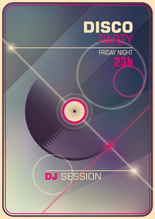 modish: Modish disco party poster.