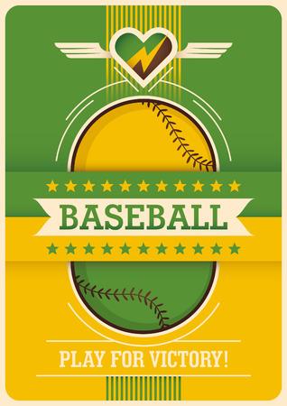 Conceptual baseball poster design.