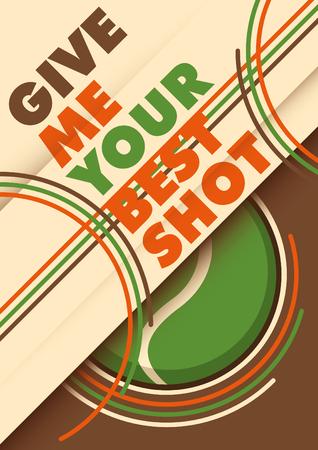 slogan: Illustrated tennis poster with slogan.