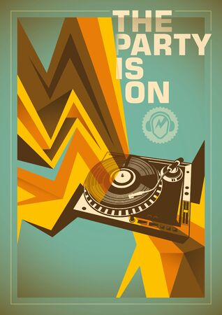 Abstract party poster design.