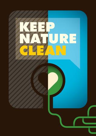 eco slogan: Conceptual ecology poster design.