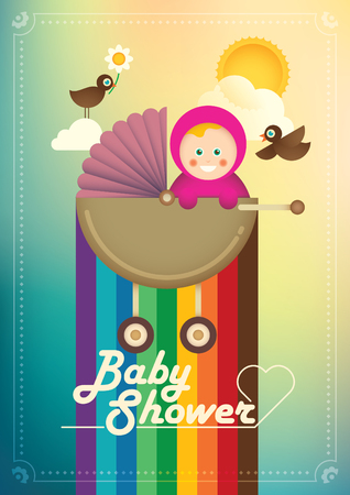 baby girl: Illustration of cute baby girl. Illustration