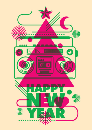 modish: Modish New Year poster design.
