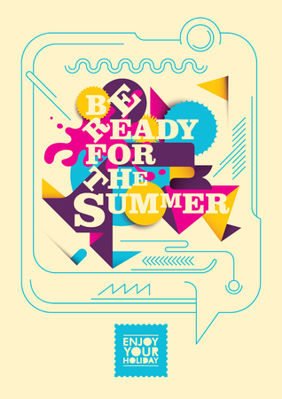 Colorful summer poster design.