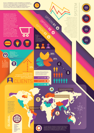 Colorful info graphic background.