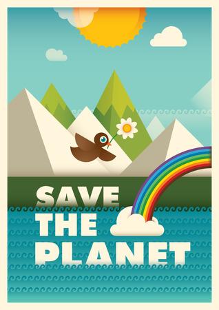 eco slogan: Ecology poster design.