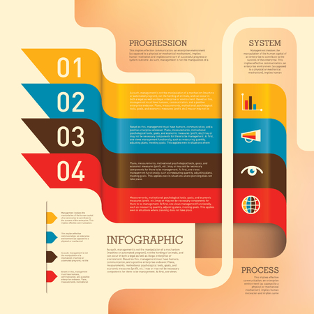 Business info graphic design in color.