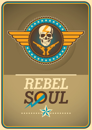 Rebel poster with coat of arms.