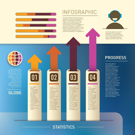 Illustration of info graphic elements. Ilustrace