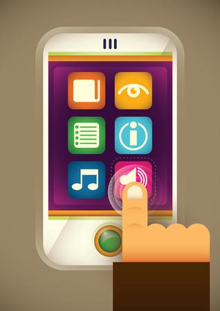 smart phone: Smart phone illustration.