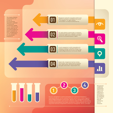 info: Business info graphic elements. Illustration