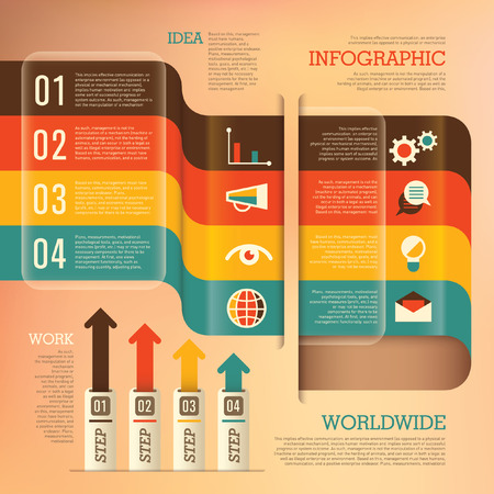 Business info graphics. Ilustrace