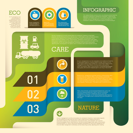 Ecology info graphic background. Ilustrace