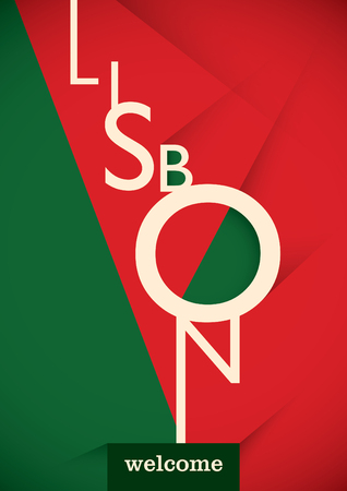 lisbon: Lisbon typographic poster design.