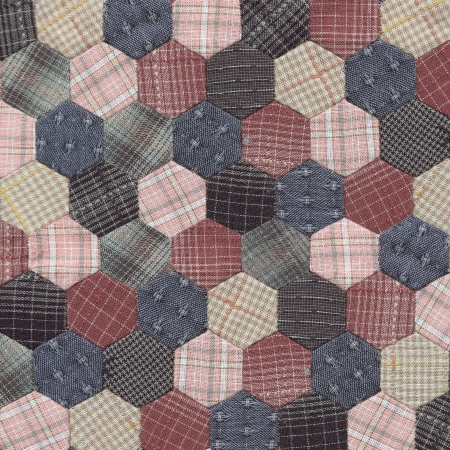 Patchwork Quilt , Classic Hexagon pattern