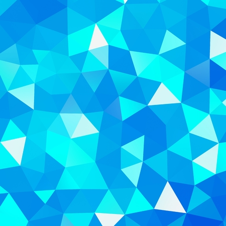 Geometric triangle mosaic background graphic backdrop blue diamond concept