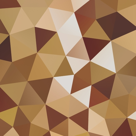 Geometric triangle mosaic background graphic backdrop brown coffee bean concept