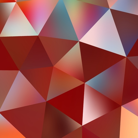 Geometric triangle mosaic background graphic backdrop red diamond concept