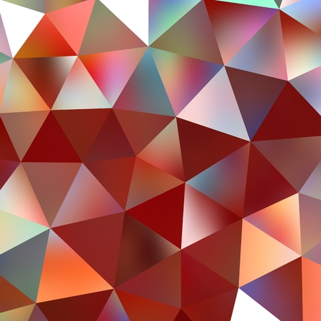 red diamond: Geometric triangle mosaic background graphic backdrop red diamond concept