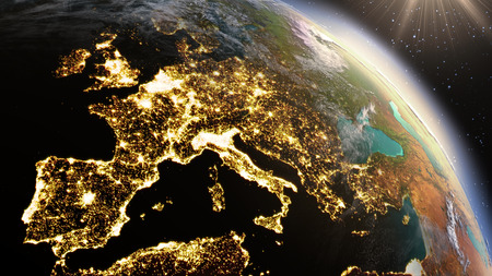 new horizons: Planet Earth Europe zone. Stock Photo