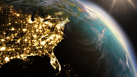 Planet Earth North America zone. Banque d'images