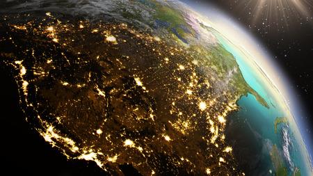 Planet Earth North America zone. Standard-Bild