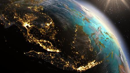 planeten: Planet Earth Südostasien Zone.