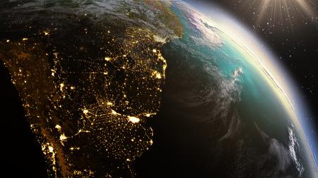 america del sur: América del Planeta Tierra Sur zona utilizando imágenes de satélite de la NASA