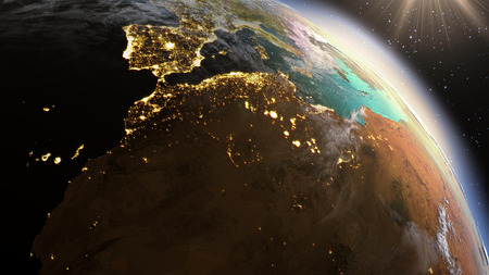 Planet Earth North Africa zone. Elements of this image furnished by NASA Banque d'images