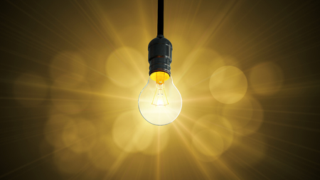Light bulb swing glow rising, Archivio Fotografico