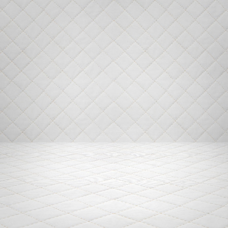 patchwork quilt: Patchwork Quilt white, Basic pattern square background Stock Photo