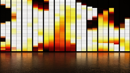 fire LED panel wall background