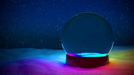 Snow Globe Christmas RGB light LED no tree