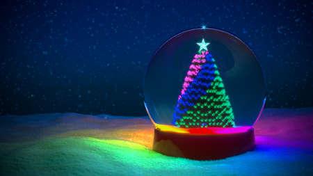 Snow Globe Christmas RGB light LED