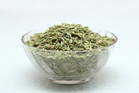 saunf: Fennel seeds on a white background