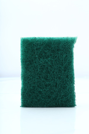 Scouring pad isolated on white background Banco de Imagens