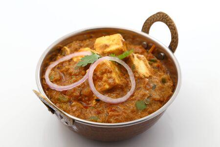 Indian food specialties. Indian food dish- Kadai Shahi Paneer or Paneer Lababdar.