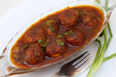 Manchurian with gravy Banque d'images