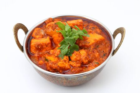 INDIAN STYLE COTTAGE CHEESE VEGETARIAN CURRY DISH. Kadai Paneer - traditional Indian food