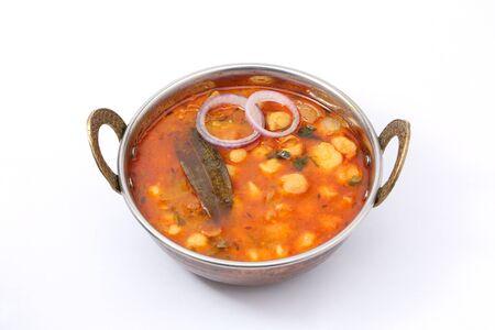 Chana masala or chickpea curry or Punjabi chole