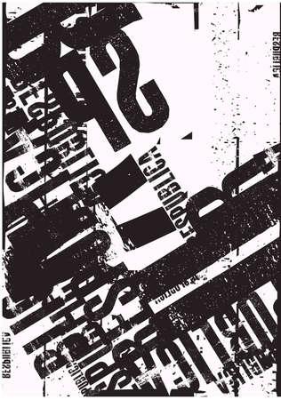 black and white typographic background