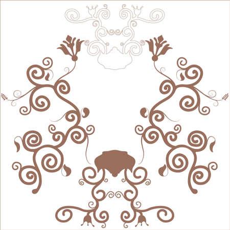 brown decorative floral frame