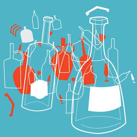 transparent bottles and jars
