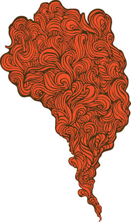 stylized red smoke