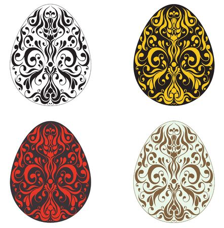 Decorative painting eggs Stock Vector - 12856572