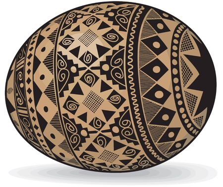 Realistic Easter eggs in the Ukrainian style Ethnic Images Illustration